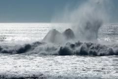 Cayucos, ocean in the wintertime